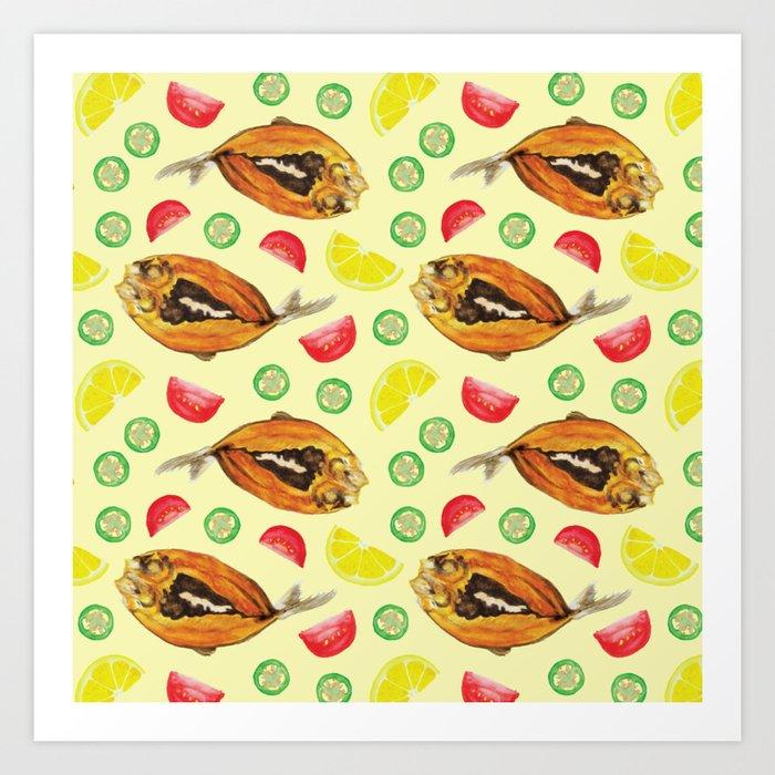 Milkfish Pattern Art Print