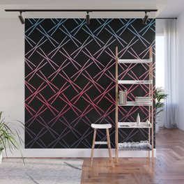 Fences Abstract Ombre Wall Mural