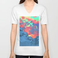 rushmore V-neck T-shirts featuring Mt Rushmore by Cale potts Art