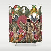planet Shower Curtains featuring PLANET by MANDIATO ART & T-SHIRTS