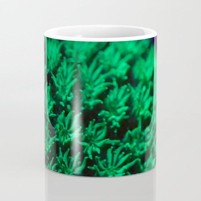 Fluorescent coral polyps reaching toward infinity Coffee Mug