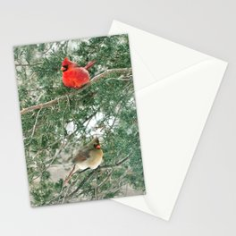 Tree for Two (Northern Cardinals) Stationery Cards