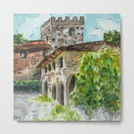 Castle Vineyard Metal Print