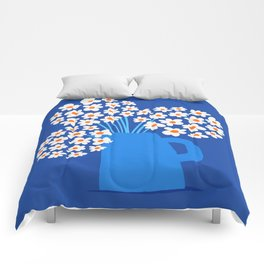 Abstraction_FLORAL_Blossom_001 Comforters