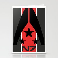n7 Stationery Cards featuring N7 MASS EFFECT by MDRMDRMDR