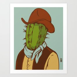 Sheriff Prickly Art Print