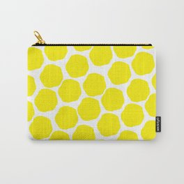 Yellow dots - Lemons Carry-All Pouch