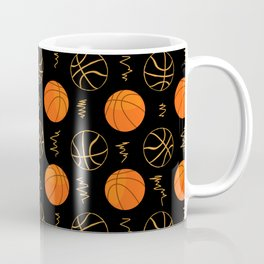 Basketball Pattern | Team Player Dunk Rebound Coffee Mug