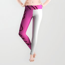 Pink Pearl Eraser Leggings