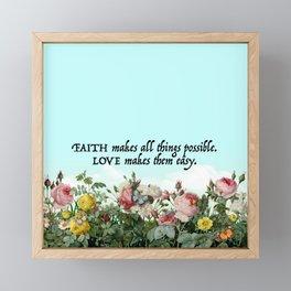 Faith & Love Framed Mini Art Print