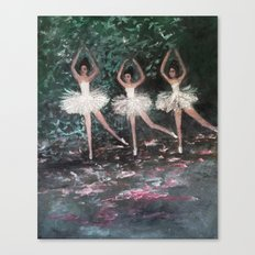 Ballerinas in the Park Canvas Print