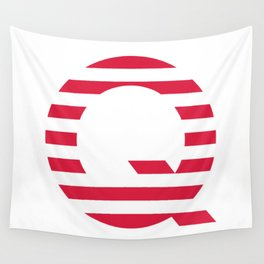 Qanon American Red Patriotic Stripes USA Great Awakening Q Wall Tapestry