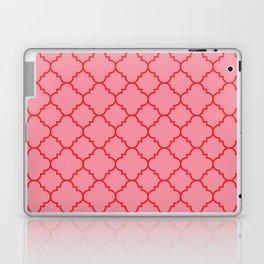 Quatrefoil - Pink & Red  Laptop & iPad Skin