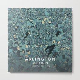 Arlington, United States - Cream Blue Metal Print
