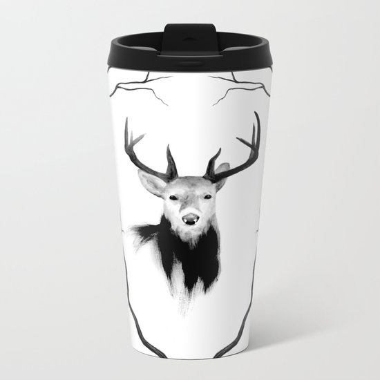DEER REVISITED Metal Travel Mug