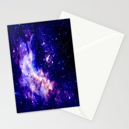 indigo galaxy : Celestial Fireworks Stationery Cards