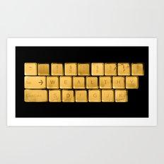 The WEALTHY Keyboard Art Print