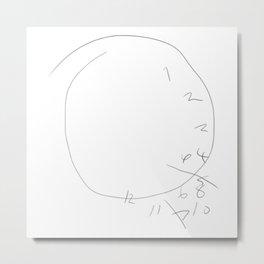 Hannibal - Will Graham Clock Drawing Metal Print