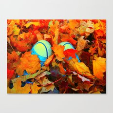 Feet First into Fall Canvas Print