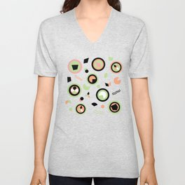 Circles and shapes can very be interesting Unisex V-Neck