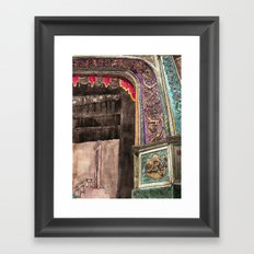stage left Framed Art Print