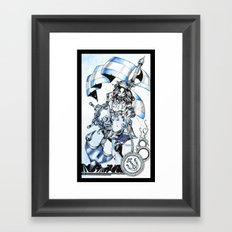Undead Blue Jacket Framed Art Print