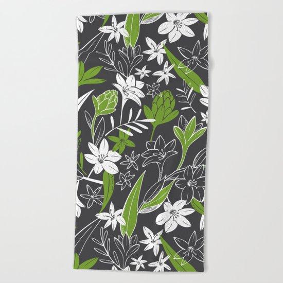 Night Garden Beach Towel