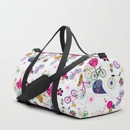 Cycledelic White Duffle Bag