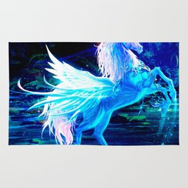 Unicorn Forest Stars Cristal Blue Rug