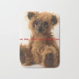 Brown teddy bear Quote Bath Mat