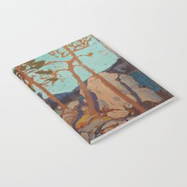 Tom Thomson - Pine Cleft Rocks - Canada, Canadian Oil Painting - Group of Seven Notebook