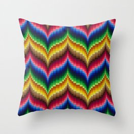 Bargello Quilt Pattern Impression 1 Throw Pillow