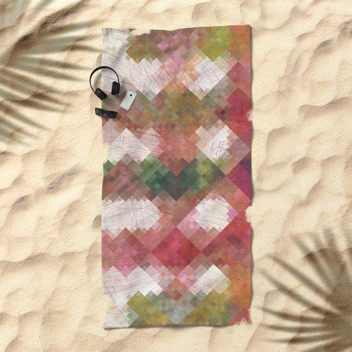 Aztec Vintage Pattern 04 Beach Towel