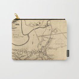 Vintage Battle of Concord Map (1875) Carry-All Pouch