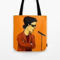lou reed Tote Bags featuring Lou Reed by Nick Gibney
