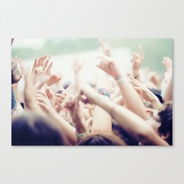 Concert Crowd Canvas Print