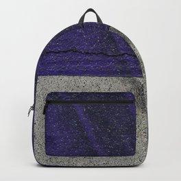 Urban Photography - Road Markings Tire Tracks - Purple Backpack