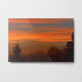 Shadows in the Morning Sky Metal Print