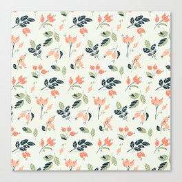 Viburnum Botanical pattern Canvas Print
