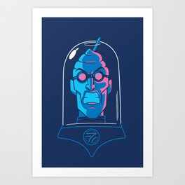 Mr. Brain Freeze Art Print