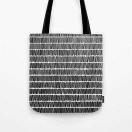 Infinite Lines Pattern - Black Tote Bag