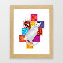Smudges Le Patch Framed Art Print