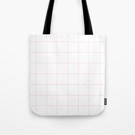 WINDOWPANE ((pastel pink)) Tote Bag