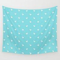 polka dot Wall Tapestries featuring Little polka dot - Hummingbird by Little Dean