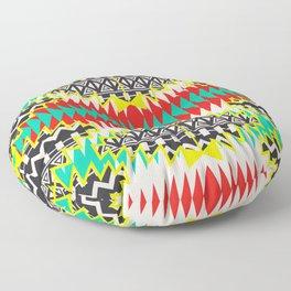 Tribal Beat Geo Neon Floor Pillow