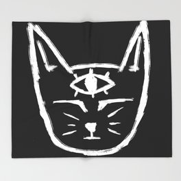 Third Eye Cat Throw Blanket