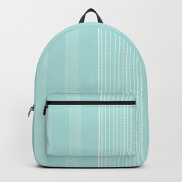 White vertical lines on blue. Backpack