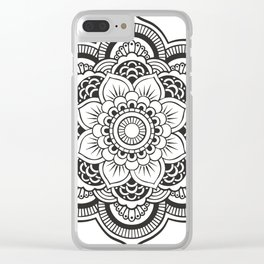 Mandala White & Black Clear iPhone Case