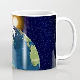 Earth Moon and Sun Coffee Mug