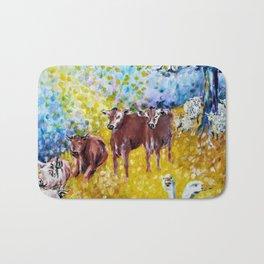 Farm Animals Protected by Brigit Bath Mat